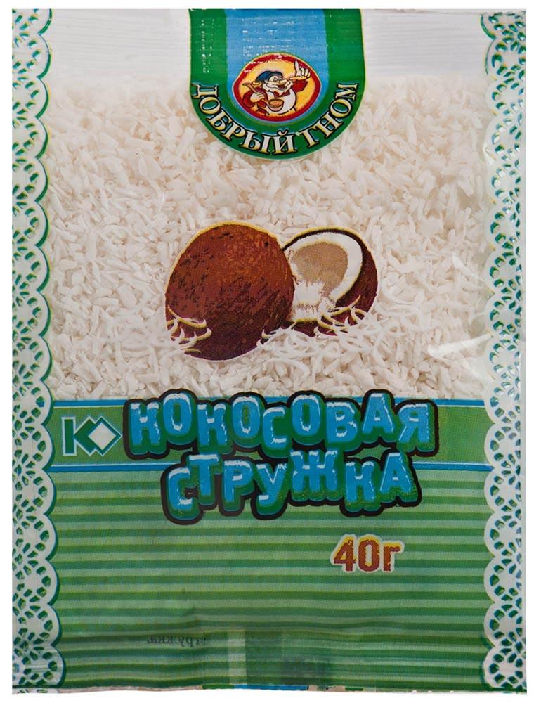 Окей Доставка Стружка кокосовая Добрый гном белая 40г