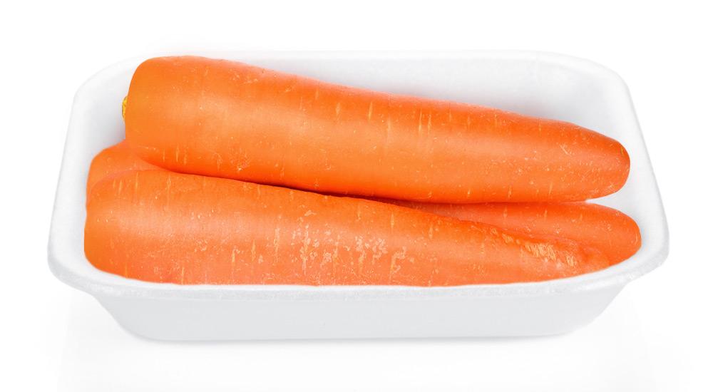 Морковь мытая 600г упак