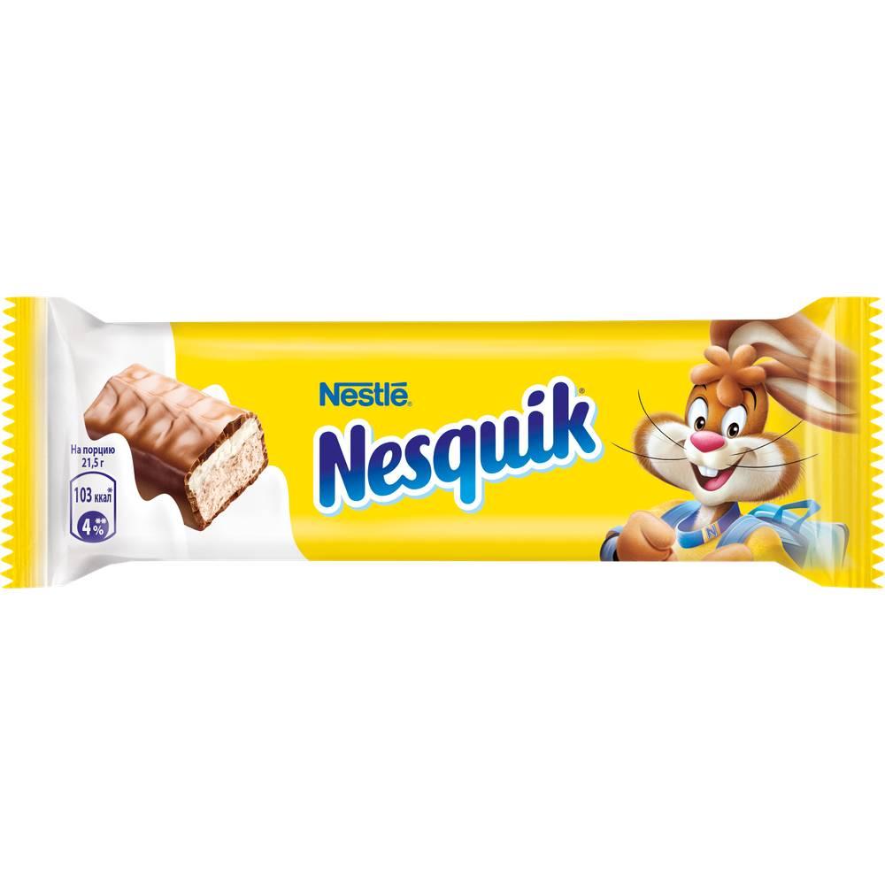 Окей Доставка Шок.батончик Nesquik с молочной начинкой 43г