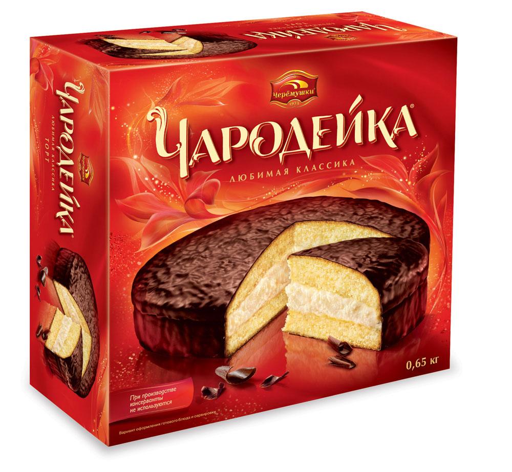 Торты и пирожные Торт Чародейка Черёмушки 650г