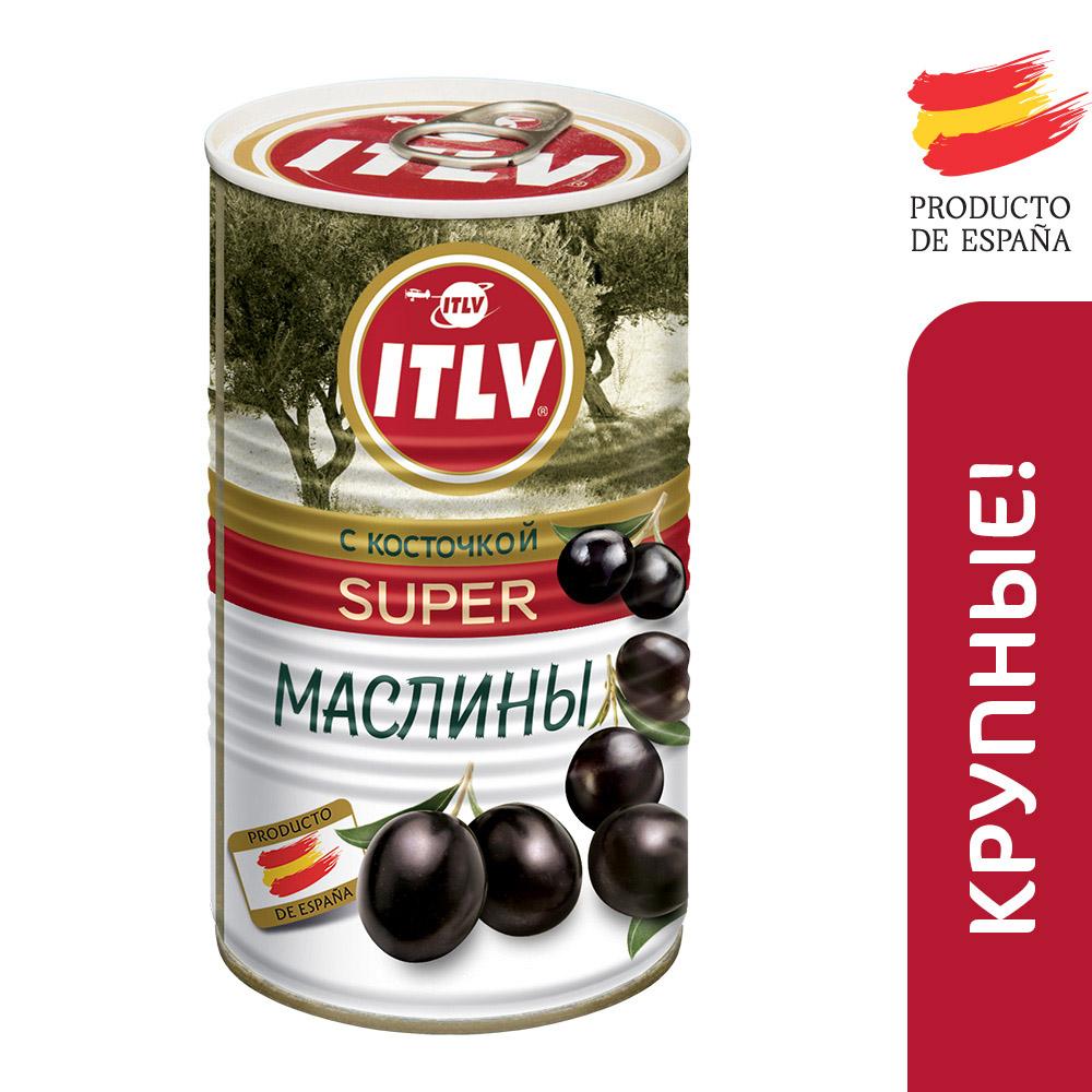 Маслины черные Itlv с/к супер 370мл ж/б