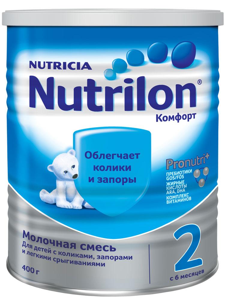 БЗМЖ Смесь молочная Nutrilon Комфорт 2 с 6 мес 400г