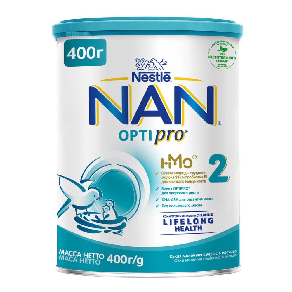 БЗМЖ Смесь молочная NAN 2 с 6мес 400г