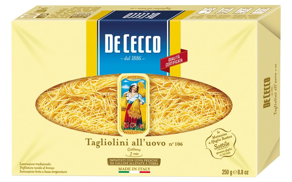 Макароны De Cecco Tagliolini 106 250г