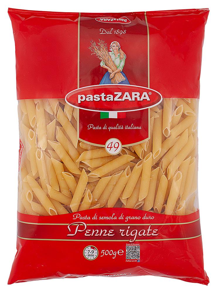 Макароны Pasta Zara Перо рифленое №049500г
