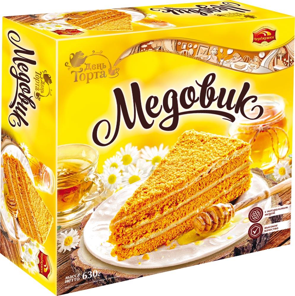 Торты и пирожные Торт Медовик 630г Черемушки