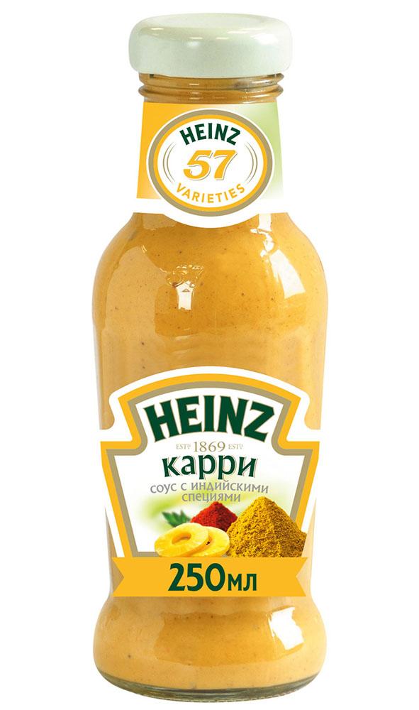 Соус Heinz карри 250мл ст/б