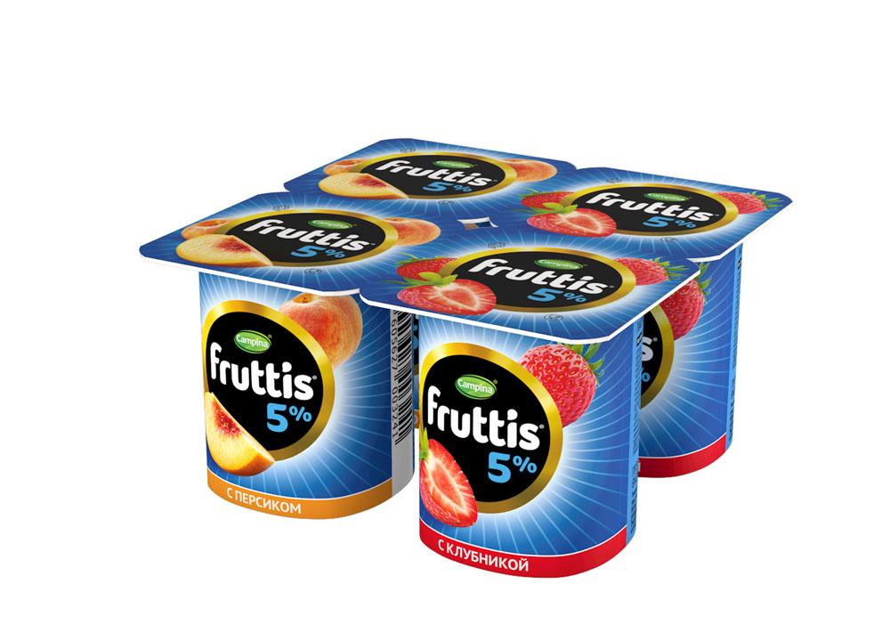 БЗМЖ Продукт йогуртн пастерFruttis слив лак 5% клуб/перс115г