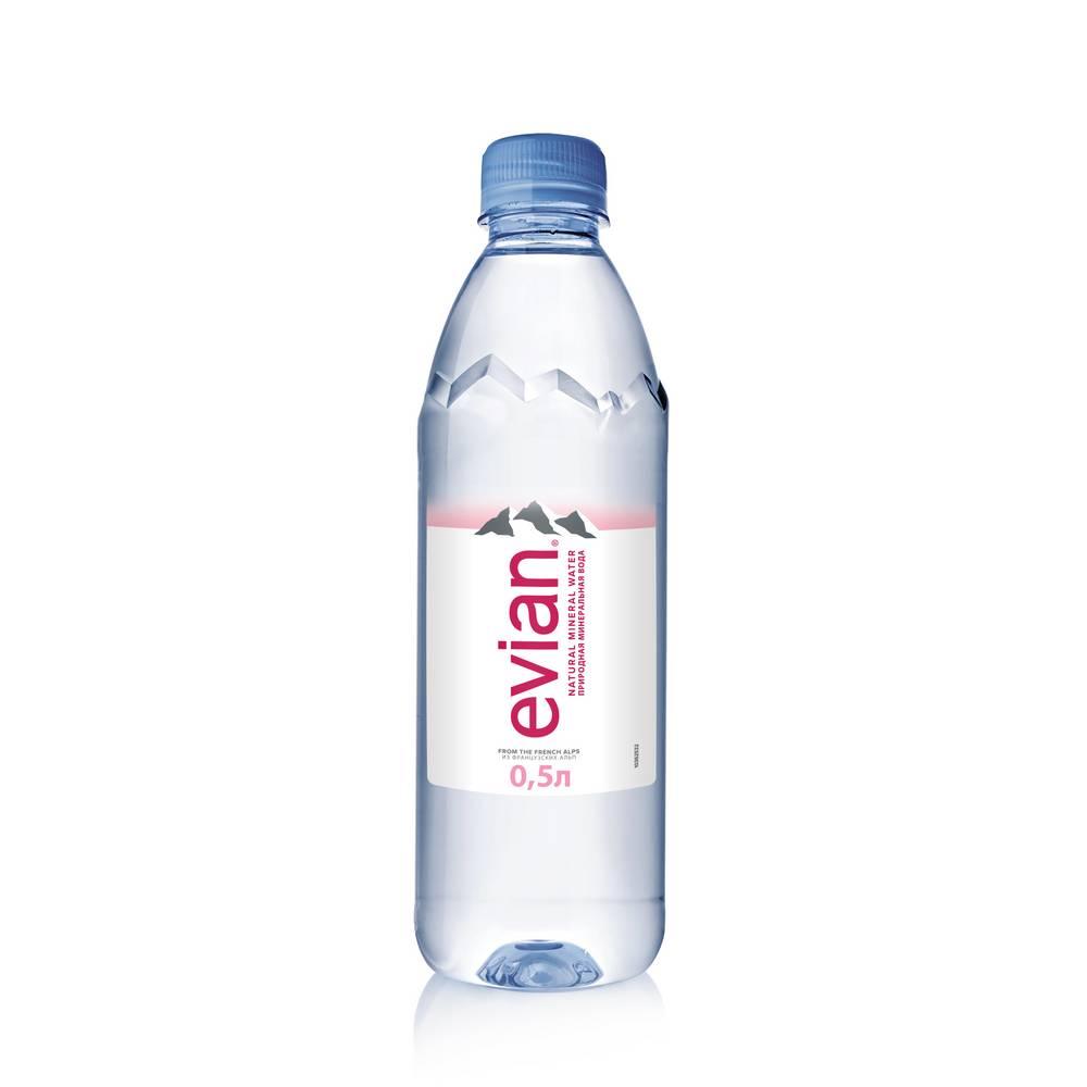 Вода минеральная Evian н/газ природ стол 0.5 л пэт