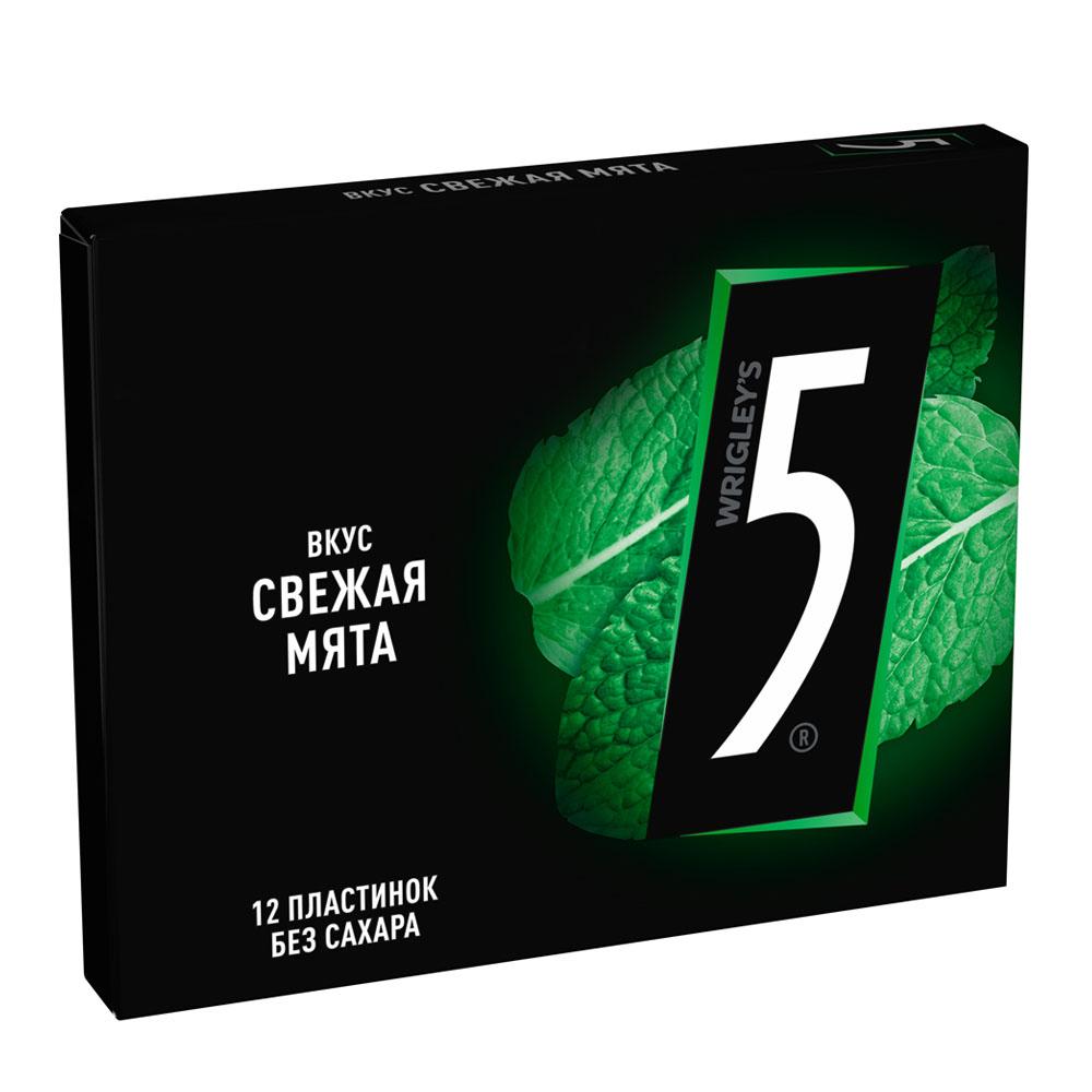 Жевательные резинки, освежающие конфеты Жев.резинка 5 Electro Свежая Мята 31,2г