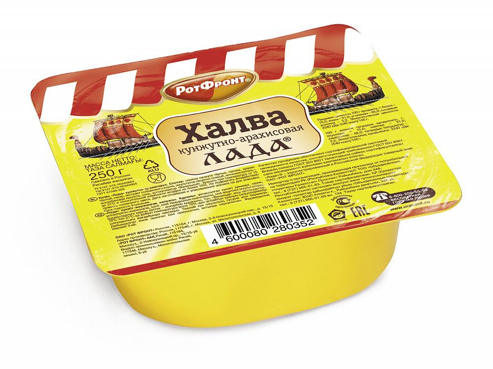 Восточные сладости  Окей Доставка Халва кунжутно-арахисовая Лада 250г Рот Фронт