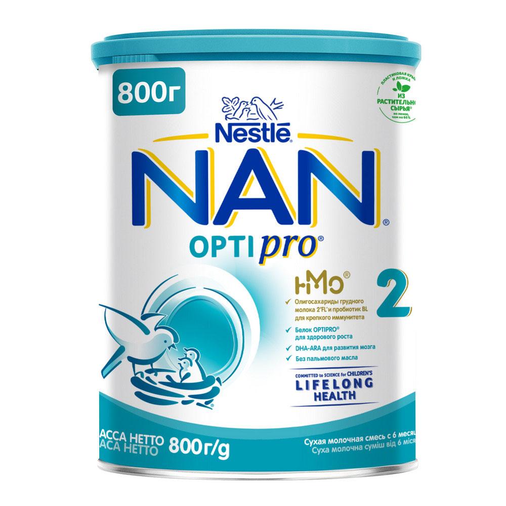 БЗМЖ Смесь молочная NAN 2 с 6мес 800г