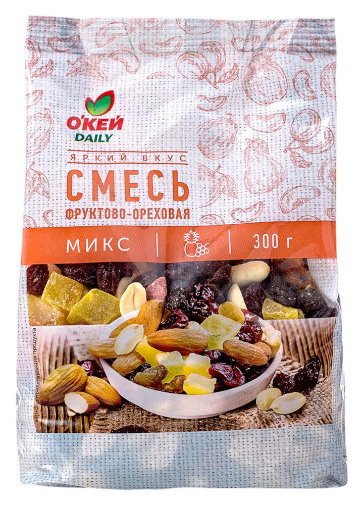 Орехи, сухофрукты Смесь фруктово-ореховая ТЧН! 300г