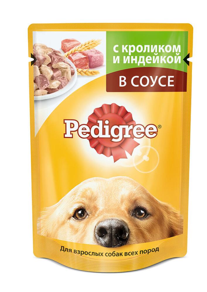 <b>Корм</b> д/<b>взрослых</b> собак Pedigree кролик/индейка 100г - купить с ...