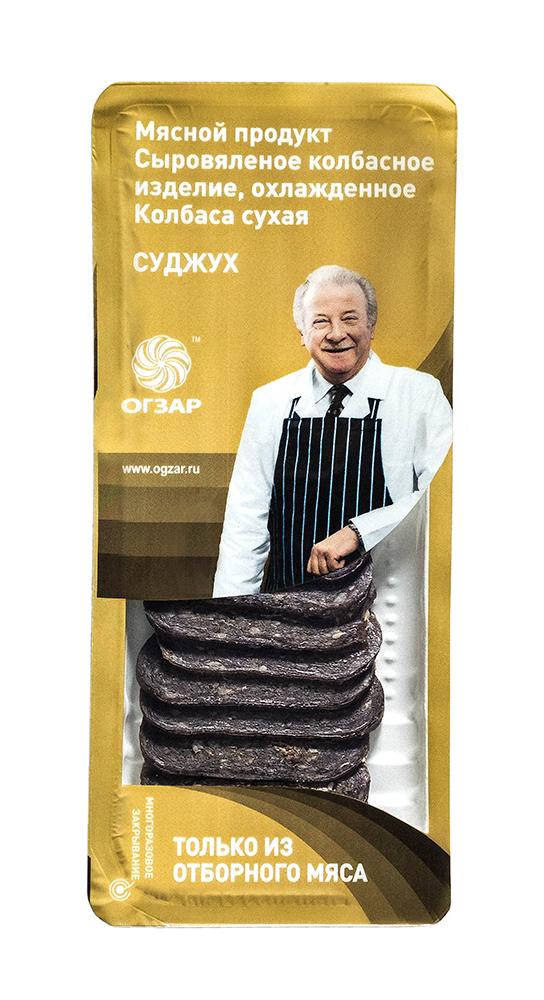 Мясные деликатесы Колбаса с/в Огзар Суджук 80г сервировочная нарезка