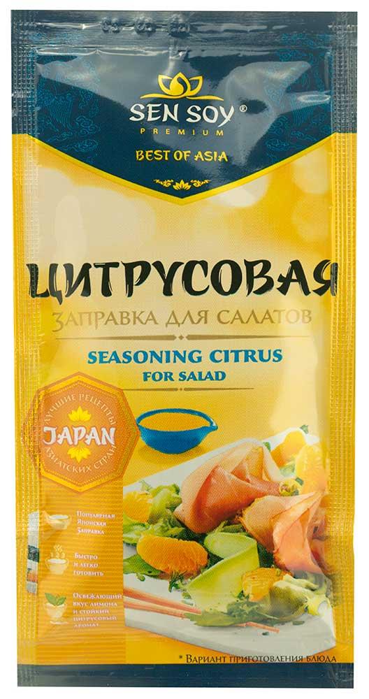 Заправка д/салатов Sen Soy Premium цитрусовая 40г