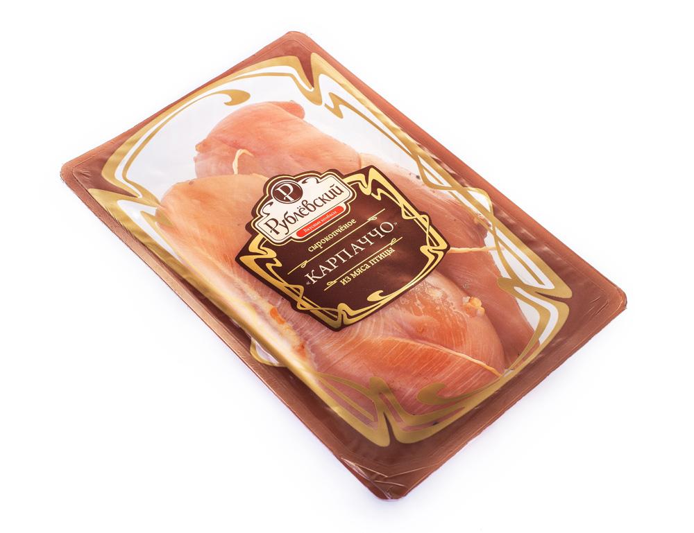 Мясные деликатесы  Окей Доставка Карпаччо Рублёвский из мяса птицы кг