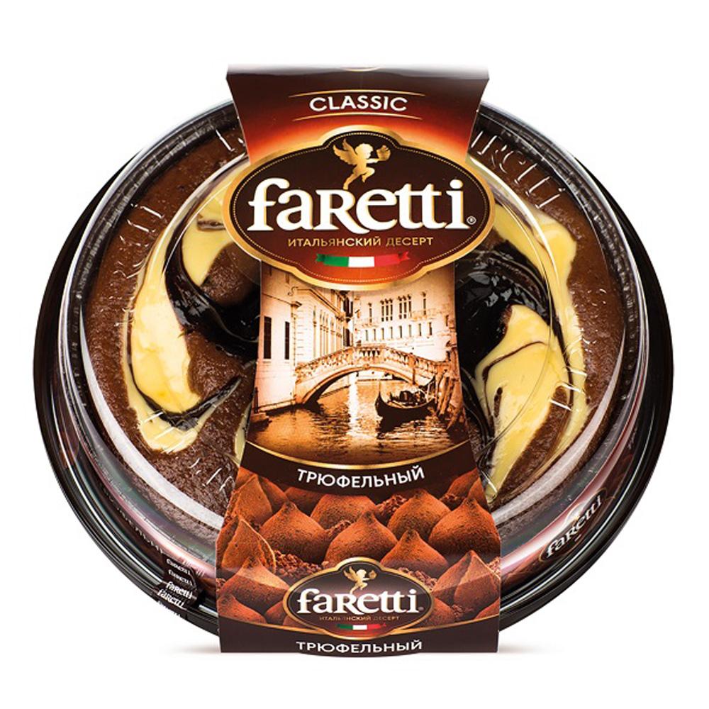 Торт бисквитный Faretti  Флоренция трюфельный 400г