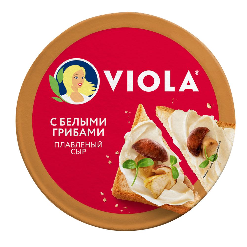 Плавленые сыры  Окей Доставка БЗМЖ Сыр плав Valio Viola с белыми грибами 45% 130г Россия