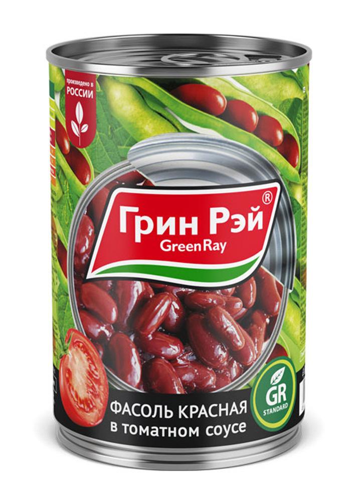 Фасоль красная Green Ray в томатном соусе 425г ж/б