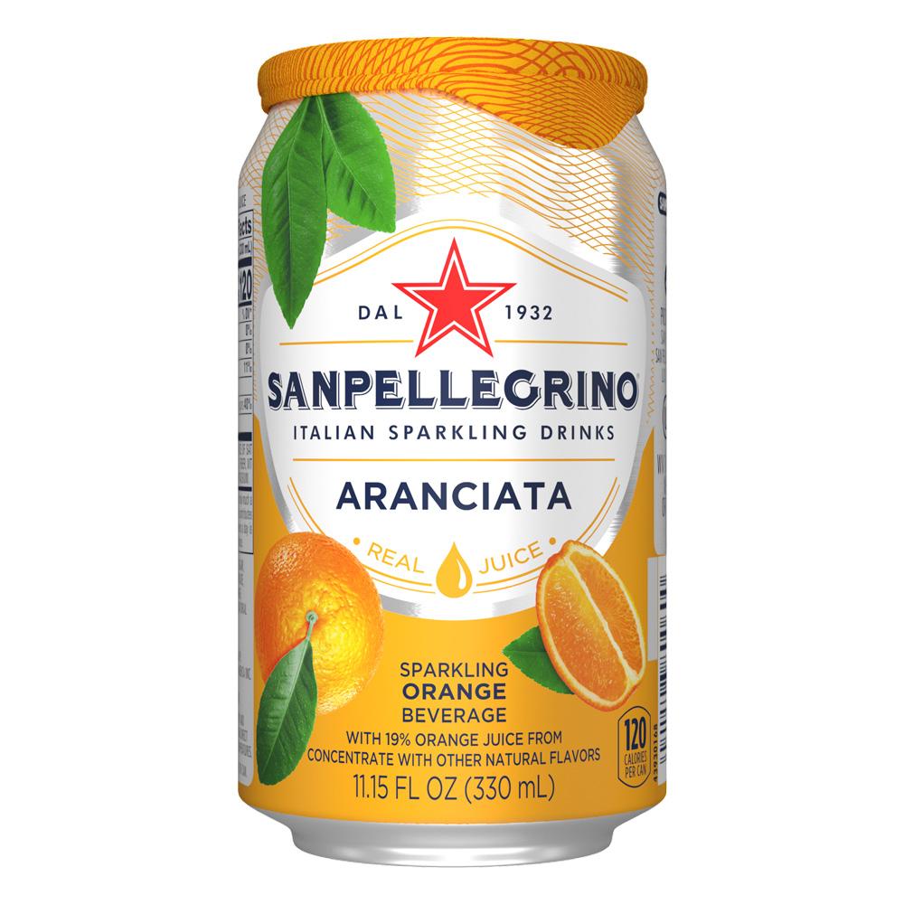 Напиток Sanpellegrino апельсин б/алк ср/газ с/содерж 0,33л ж/б