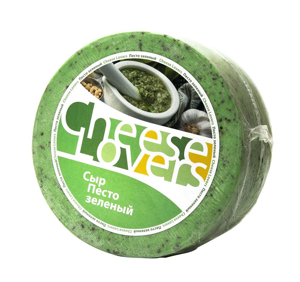 БЗМЖ Сыр Песто зеленый мдж в сух в-е 50% Cheese Lovers