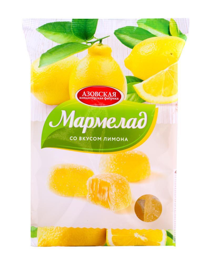Окей Доставка Мармелад желейный со вкусом лимона 300г Азовская КФ