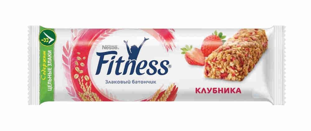 Батончик Nestle Fitness клубника с цельными злаками 23,5г