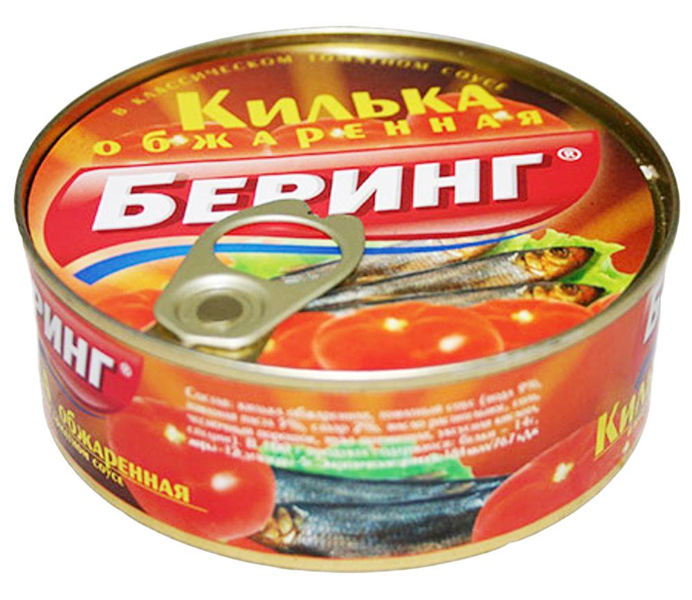 Килька Беринг черноморская обжаренная в т/с 240г.