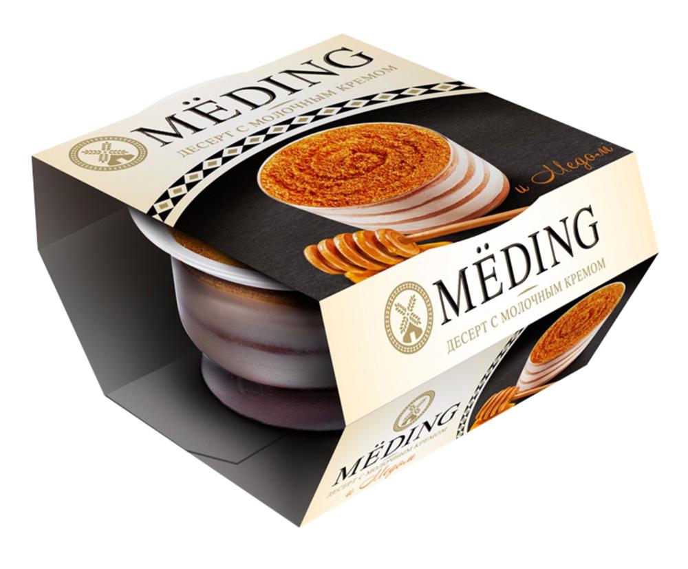 БЗМЖ Десерт Meding с молоч кремом и мёдом 9,7% 85г