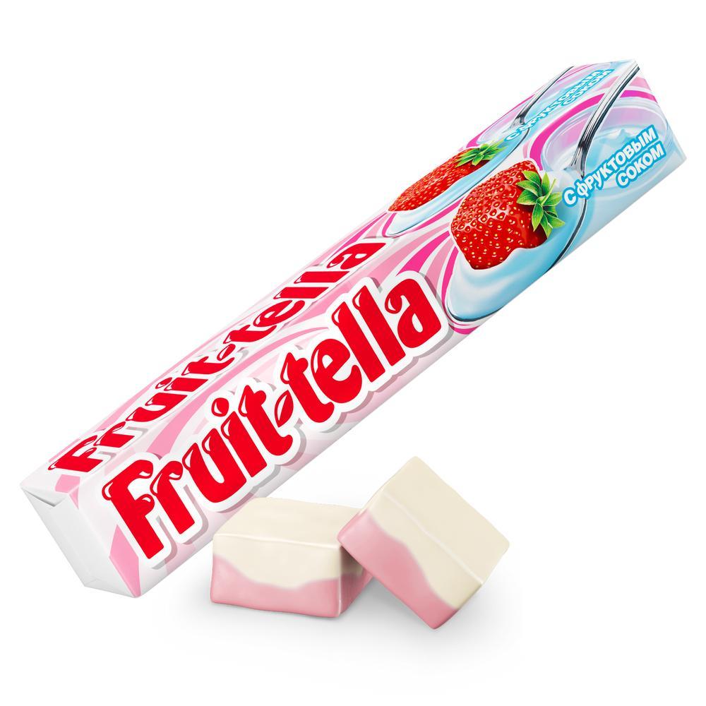 Окей Доставка Жев.конфета Fruittella Клубничный йогурт 41г