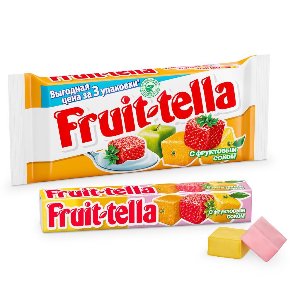 Жев.конфета Fruittella Ассорти вкусов 3х41г