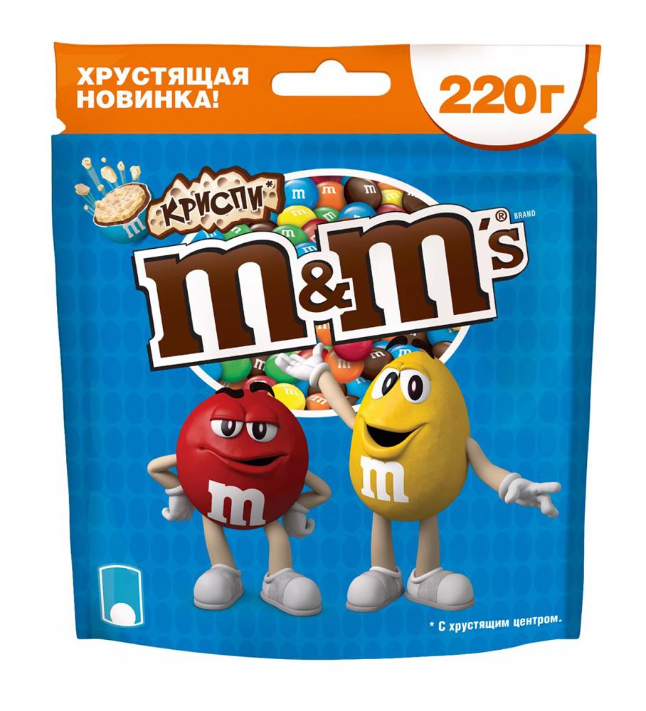 Драже M&M's crispy 220г
