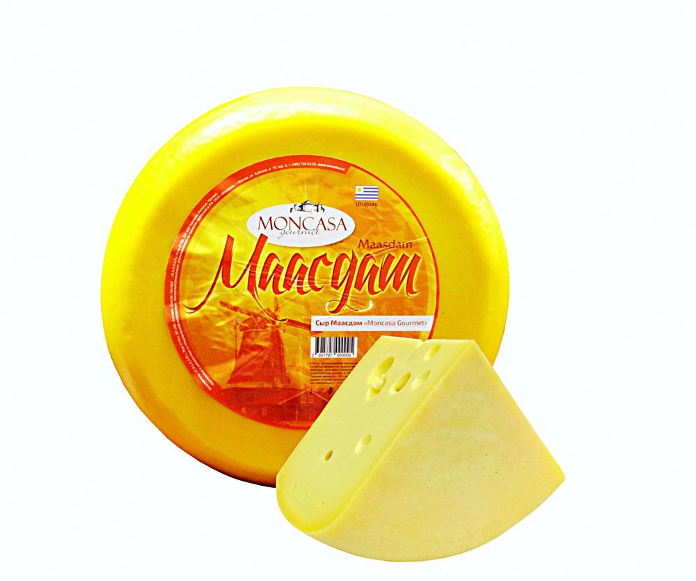 БЗМЖ Сыр Маасдам мдж в сух в-е 48% Moncasa Gourmet Уругвай, кг