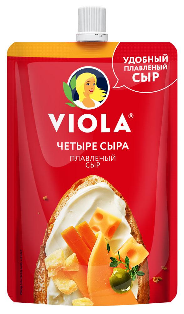 Плавленые сыры БЗМЖ Сыр плавленый Viola Четыре сыра 45% 180г Россия