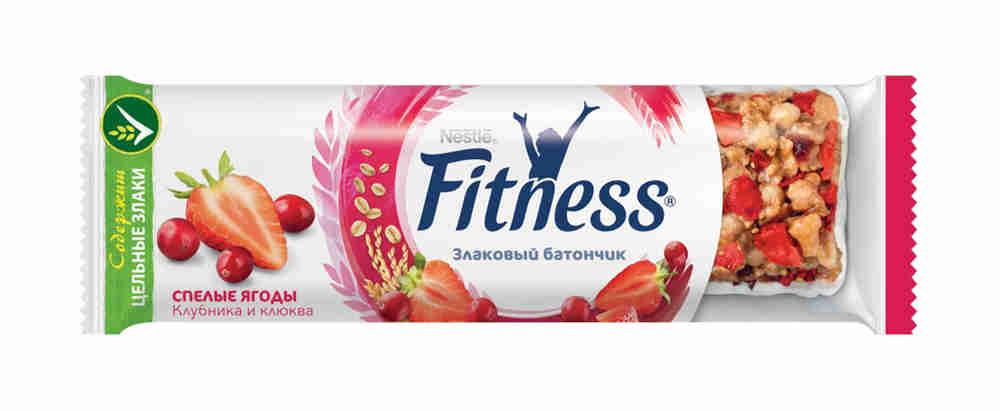 Батончик злаковый Fitness спелые ягоды 23,5г
