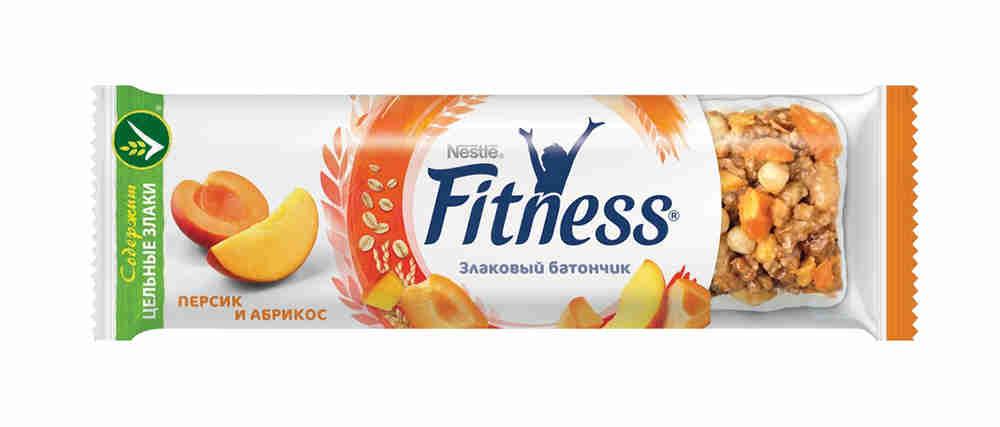 Батончик злаковый Fitness персик/абрикос 23,5г