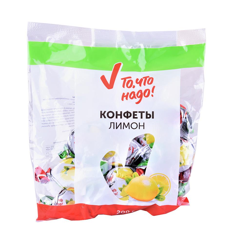 Конфеты глазированные ТЧН! вкус лимон 200г