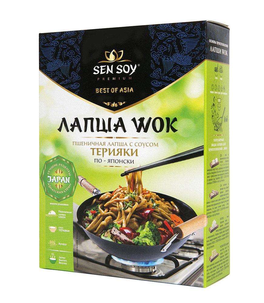 Лапша пшеничная Udon Sen Soy Wok По-Японски с соусом Teryaki и кунжутом 275г