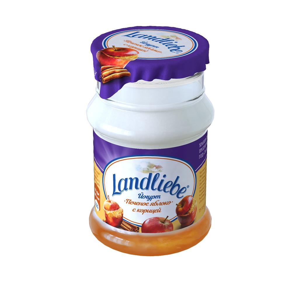 БЗМЖ Йогурт Landliebe Печёное ябл с ябл и корицей 3,2% 130г