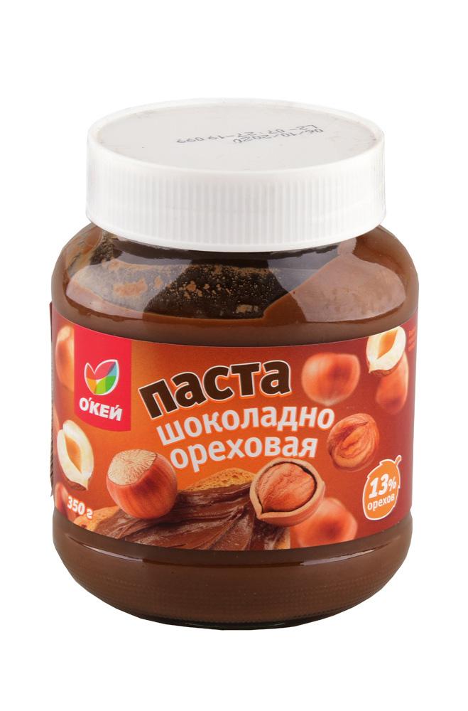 Паста ОКЕЙ шоколадно-ореховая 13% 350г