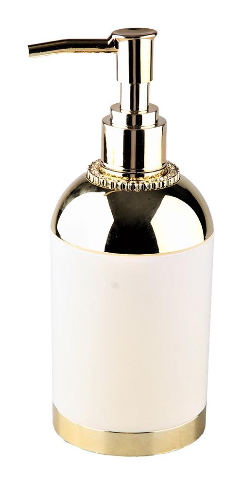 Дозатор д/мыла Atmosphere White Gold пластиковый 300мл