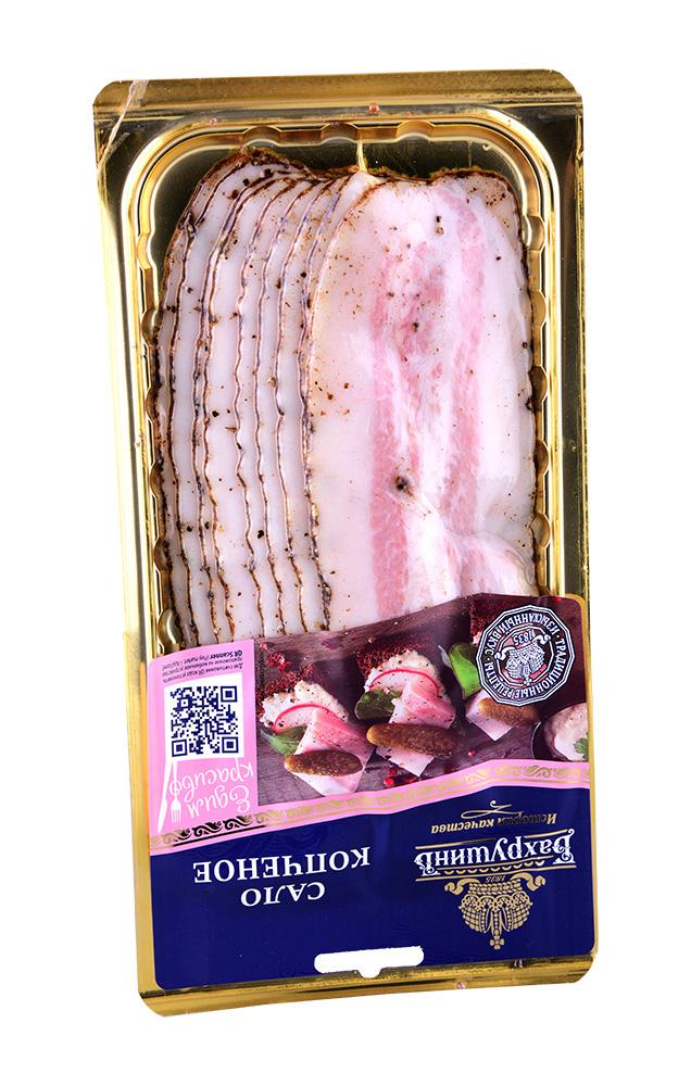Мясные деликатесы Сало копченое 150г нарезка Бахрушин