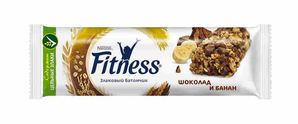 Батончик злаковый Fitness шоколад/банан 23,5г