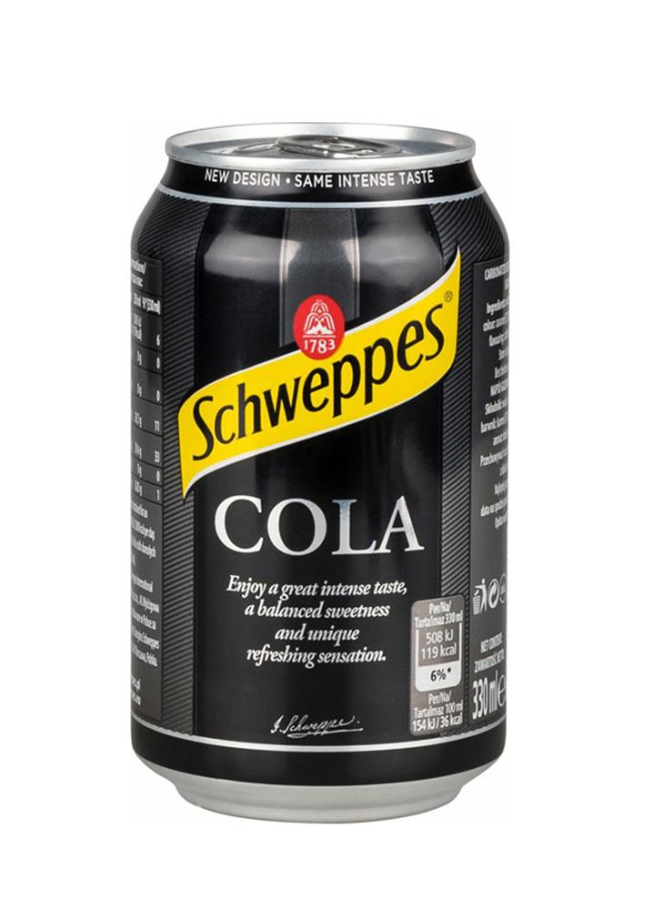 Напиток тоник Schweppes import cola б/алк газ 0,33 ж/б