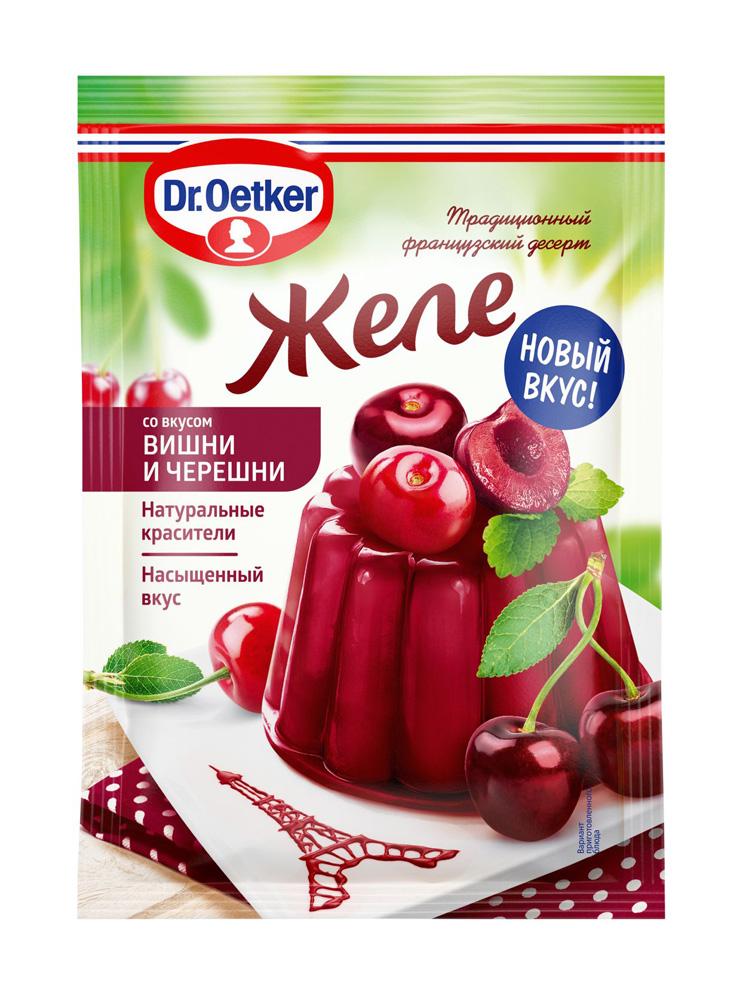 Окей Доставка Желе Dr.Oetker со вкусом вишни и черешни 45г