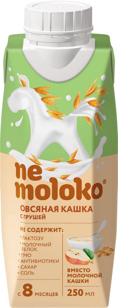 Кашка овсяная Nemoloko безмолочная с грушей обогащенная витаминами и мин веществами с 8мес 0,25л