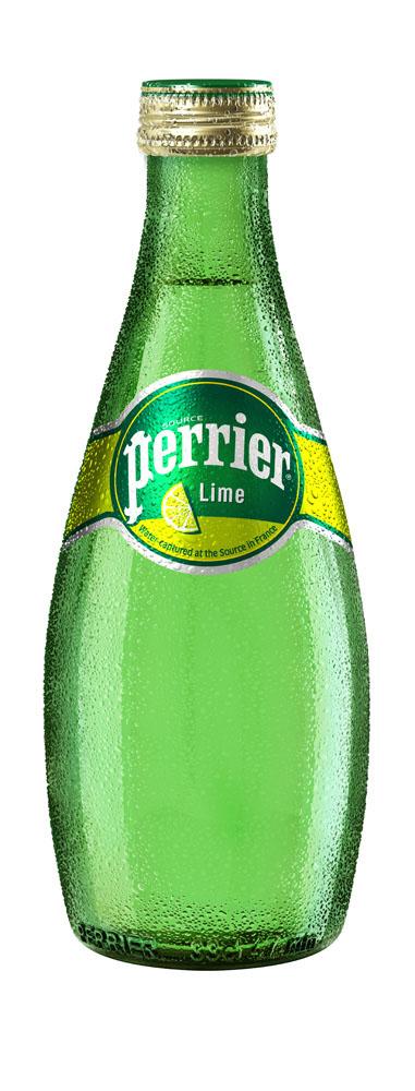 Вода минеральная Perrier Lime газ природ стол 0,33л ст/б