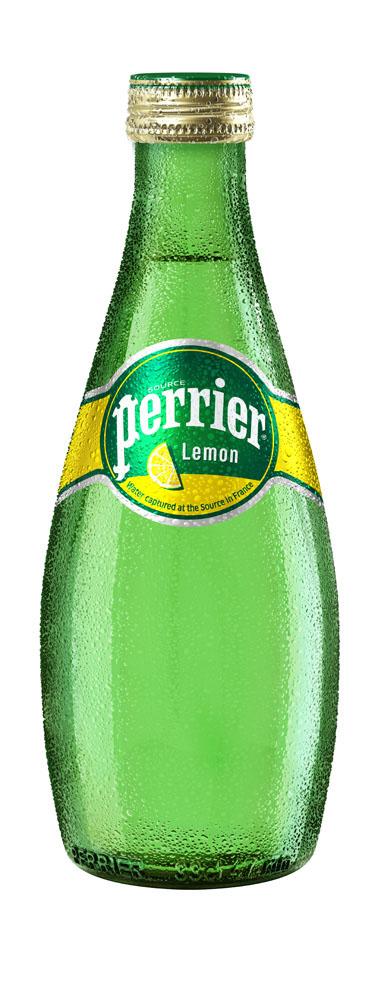Вода минеральная Perrier Lemon газ природ стол 0,33л ст/б