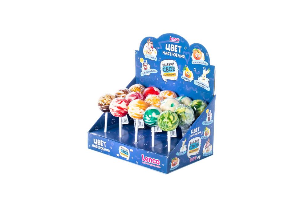 Жевательные резинки, освежающие конфеты Карамель леденцовая Цвет настроения 32г